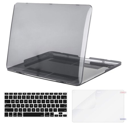Mosiso Plastic Hard Case with Keyboard Cover with Screen Protector Only for [Previous Generation] MacBook Pro Retina 15 Inch (Model: A1398) No CD-ROM, Transparent (Macbook Pro Retina 15 Screen Replacement Cost)