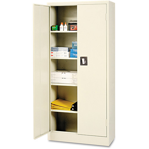 Alera Space Mizer Storage Cabinet, 4 Fixed Shelves, Putty