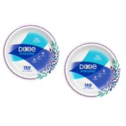 """Dixie Everyday Paper Dinner Plates, 10"""", 150 Count - 2 Pack"""