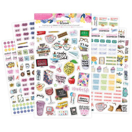 Franklin Blooms Daily Refills - Planner Sticker Sheets, Teacher Pack - bloom daily planners