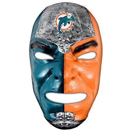 Franklin Sports NFL Miami Dolphins Fan Face Mask (Nfl Countdown Halloween)