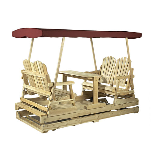 Rustic Natural Cedar Furniture Deluxe 4 Piece Conversation Set
