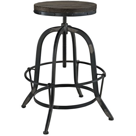 Industrial Modern Contemporary Dining Kitchen Wood Metal Top Bar Stool