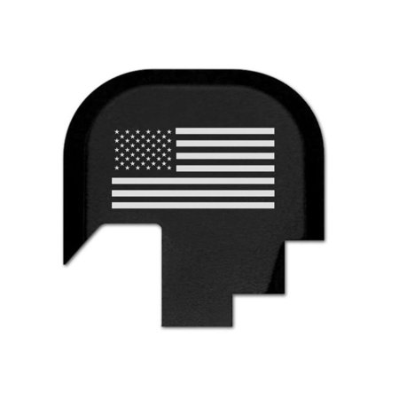 Rear Slide Cover Plate for Smith & Wesson S&W M&P Shield 9mm .40 ONLY, Butt Plate with Laser Engraved Image - Usa Flag, Compatible with Smith &.., By