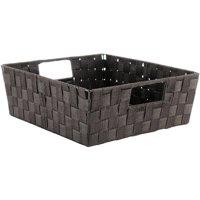 """Whitmor Woven Strap Shelf Storage Tote - Espresso - 13"""" x 15"""" x 5"""""""