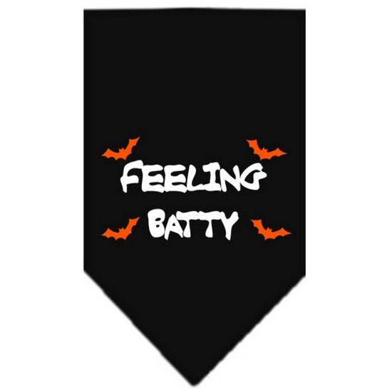 Feeling Batty Screen Print Bandana Black Small