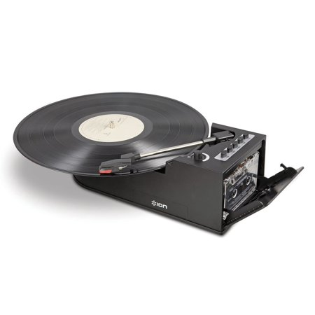 Portable Record Player, Ion It34 Duo Deck Modern Vinyl Portable Stereo Turntable