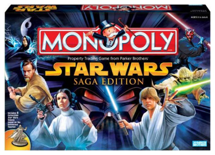 Monopoly Game Star Wars Saga Edition by Parker Brothers