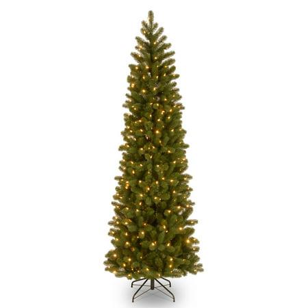 6.5 ft. Downswept Douglas Pencil Slim Fir Tree with Dual Color LED Lights ()