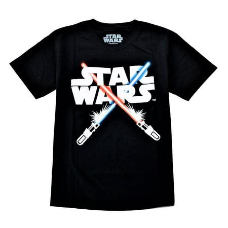 Star Wars Boy's Short Sleeve Tee Black (Star Wars Uniforms For Sale)