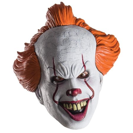 Rubie's Pennywise from IT Movie 2017 Adult Mask for Halloween One Size Fits Most (Halloween 2017 Film Completo)