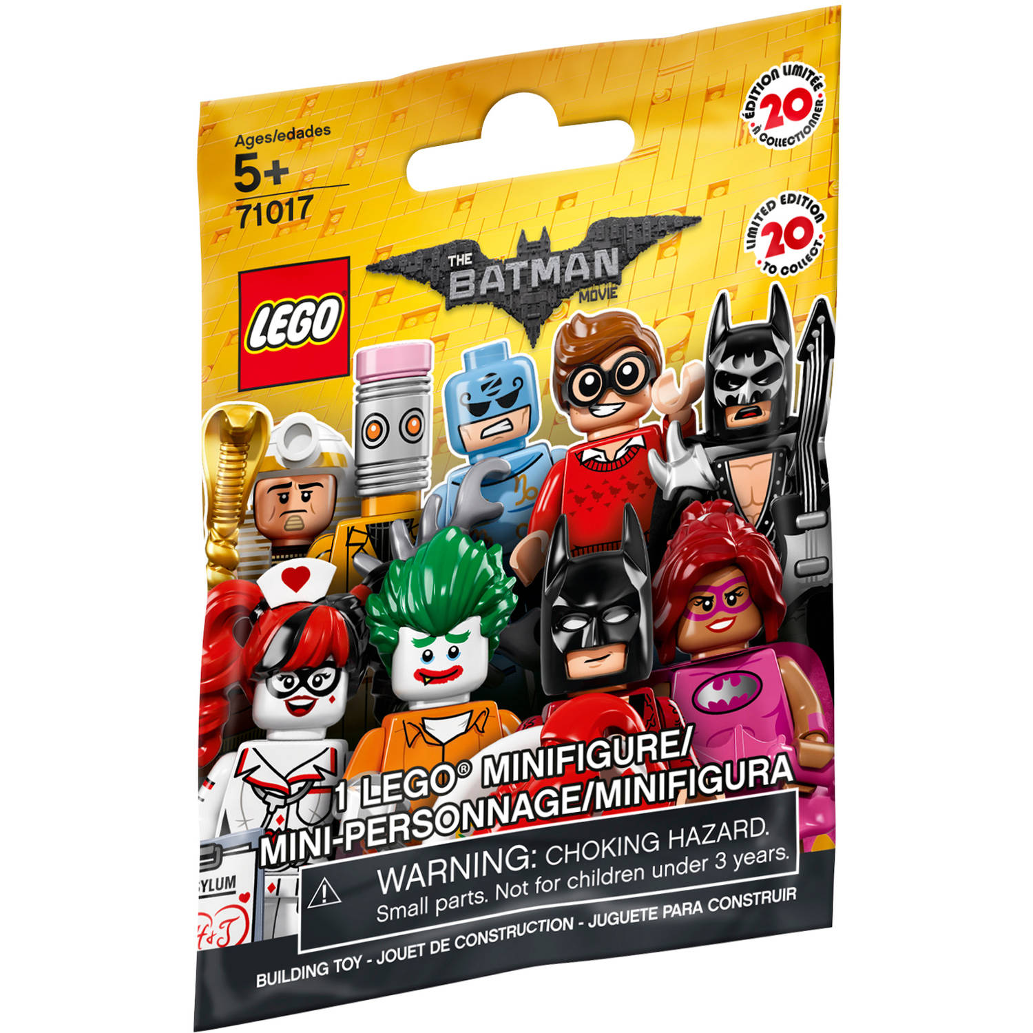 The Lego Batman Movie Minifigure Mystery Bag 71017