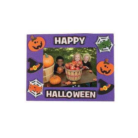 IN-48/6957 Halloween Friends Picture Frame Magnet Craft Kit Makes 50