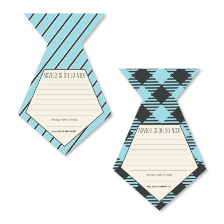 Dashing Little Man Mustache Party - Tie Shaped Baby Shower Advice Cards - Set of - Baby Advice Cards
