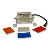 Flashtech 4 Inch LED Off Road Light Bar Combo Driving Fog Light Colored Lens Cover - Red