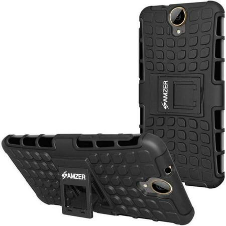 Amzer Impact-Resistant Hybrid Warrior Case for HTC One E9 Plus,