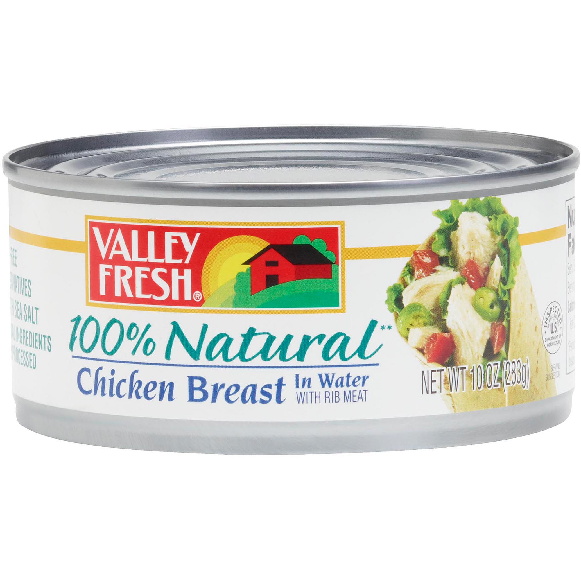 Valley Fresh 100% Natural White Chicken In Water, 12.5 oz