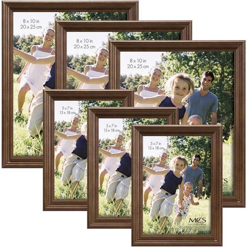 Walnut Wood Frame, Set of 6