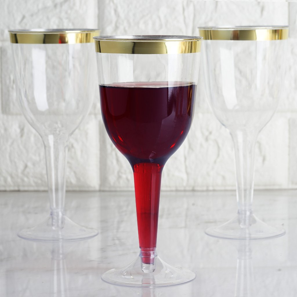 Box of 200-4 ounce Disposable Plastic Champagne Glasses