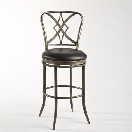 """Bowery Hill 26"""" Swivel Counter Stool in Pewter and Black - image 1 of 1"""