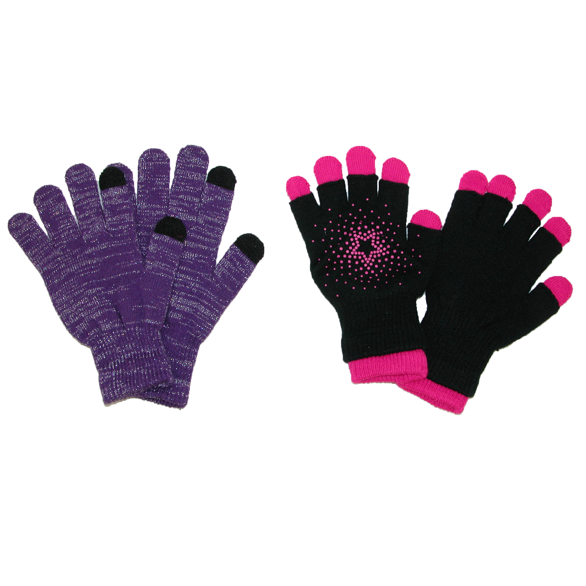 Aquarius  Girls' Touch Screen Gloves and 2 in 1 Fingerless Gloves