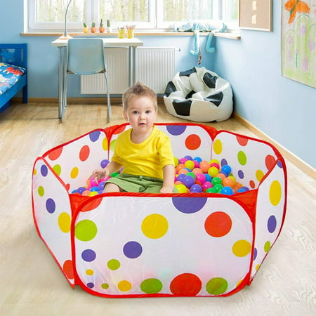 """47"""" Portable Kids Outdoor Game Play Children Toy Ocean Ball Pit Pool Red Side"""