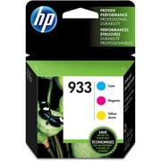 HP 933 Cyan, Magenta, & Yellow Original Ink Cartridges, 3 Cartridges (N9H56FN)