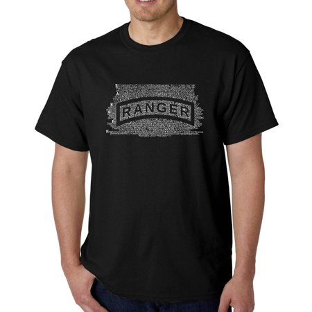Los Angeles Pop Art Men's T-Shirt - The Us Ranger Creed - Blue Mystic Ranger
