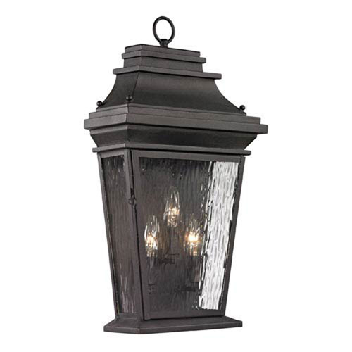 Isles Charcoal 22-Inch Three Light Outdoor Wall Sconce by