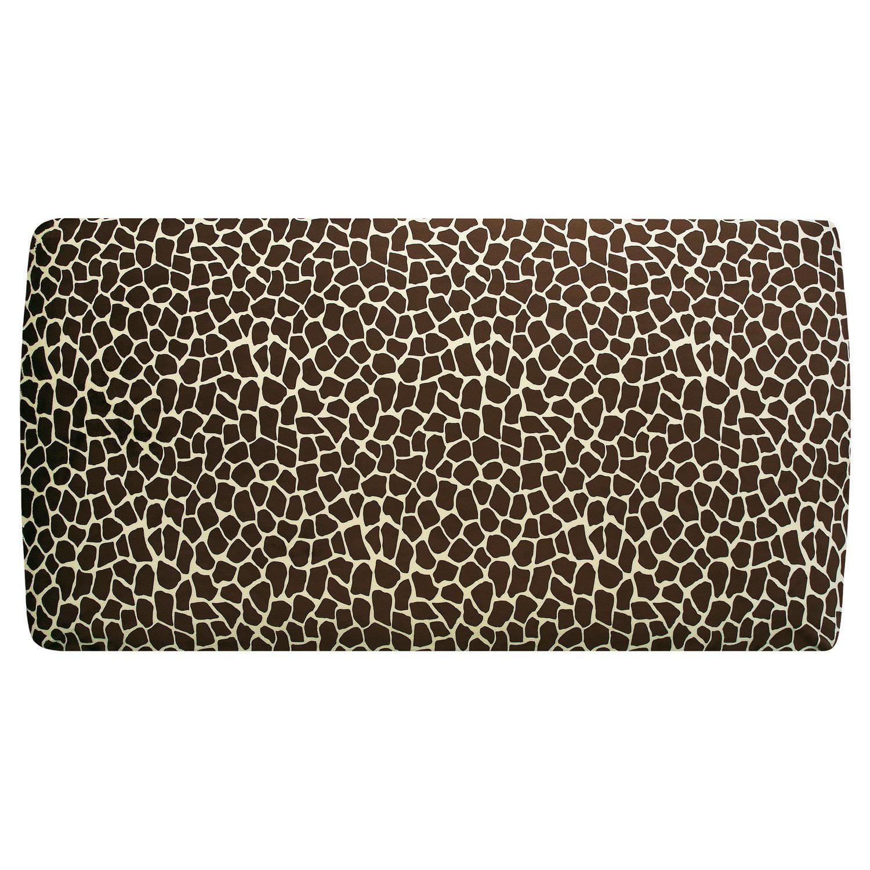 My Blankee Giraffe Print Minky Crib Sheet, Butter/Brown, ...