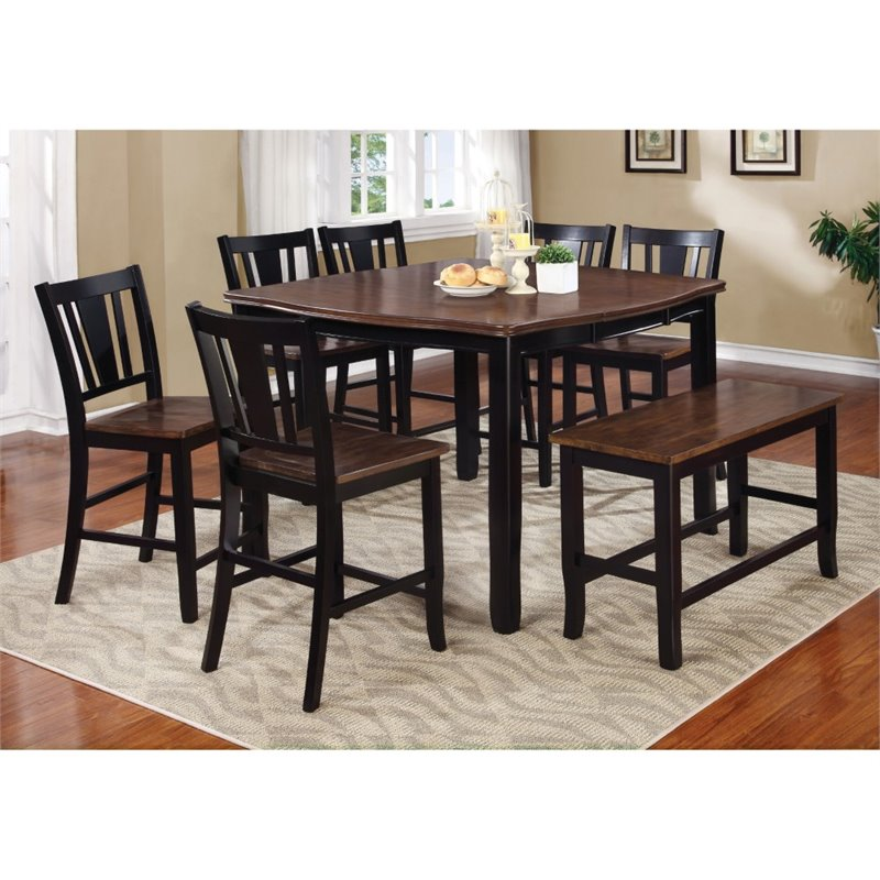 Furniture Of America Delila 8 Piece Counter Height Dining Set
