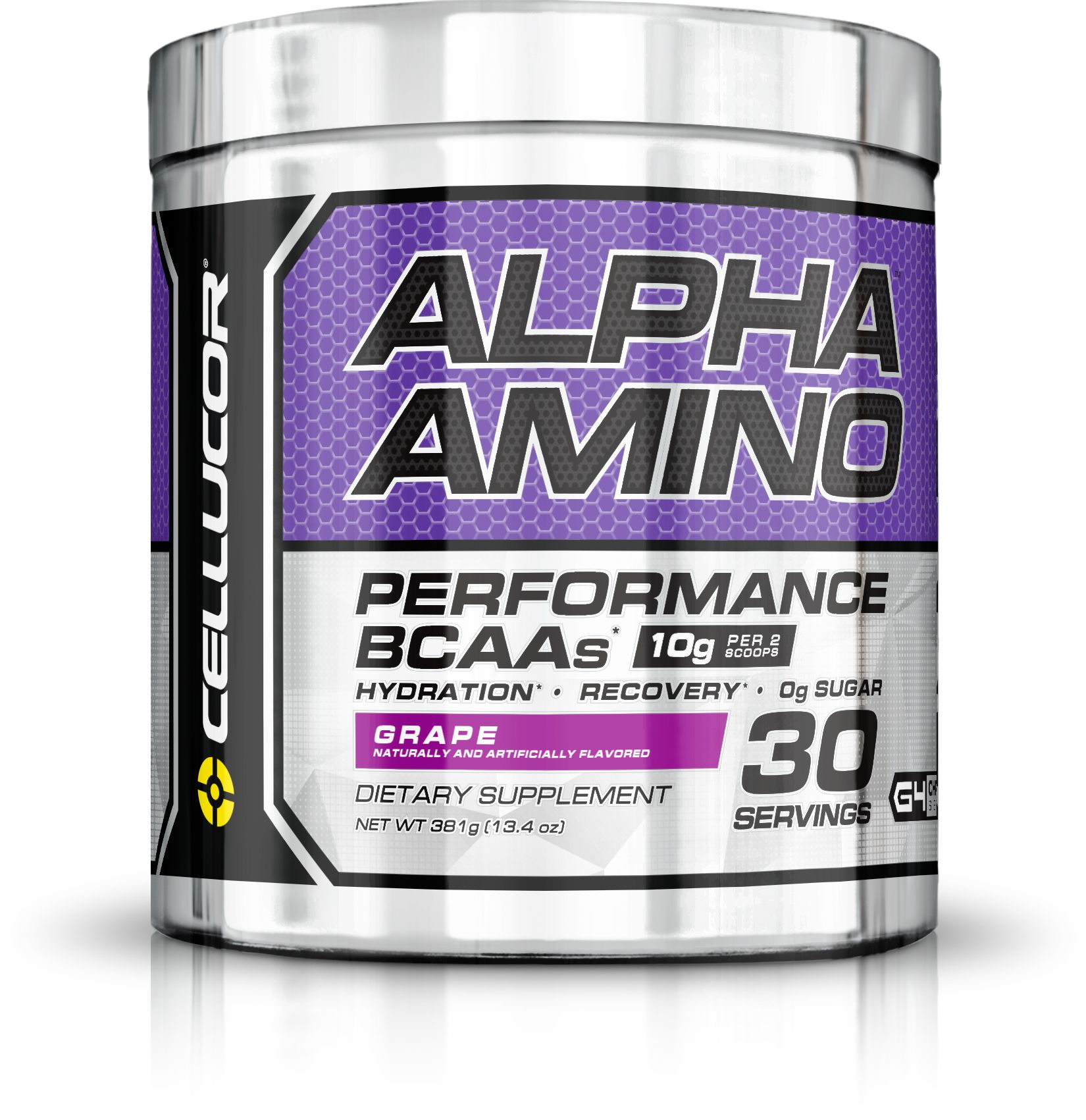 Cellucor Alpha Amino, BCAA Powder, Grape, 30 Servings