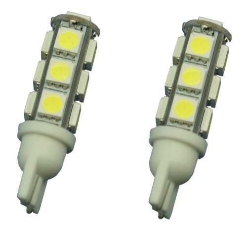 Two (2) Eco-LED Warn White LED 921 Bulb, with 9 SMD 5050 & Miniature Wedge T10