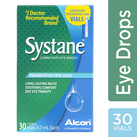 SYSTANE Lubricant Eye Drops for Dry Eye Symptoms, 30 Preservative-Free