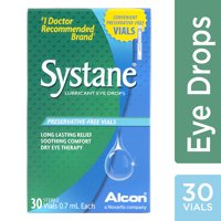 Systane lubricant eye drops for dry eye symptoms, 30 preservative-free vials