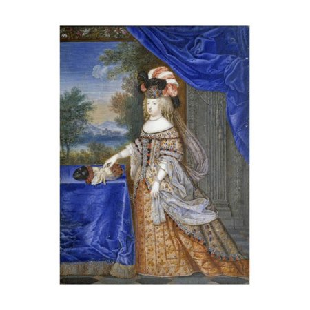 Portrait of Maria Theresa in a Polish Costume by Joseph Werner Print Wall Art
