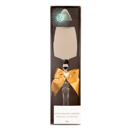 - Victoria Lynn 50th Anniversary Cake Server with Gold Bow