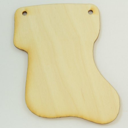 """Package Of 10, Stocking Wood Cut Out 3.5 """" X 4 """" Ready To Finish In Art & Craft Project"""