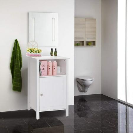 UBesGoo Bathroom Storage Free Standing Floor Cabinet with Single Door and Adjustable Shelf Bedside Table - Bed And Bath Store