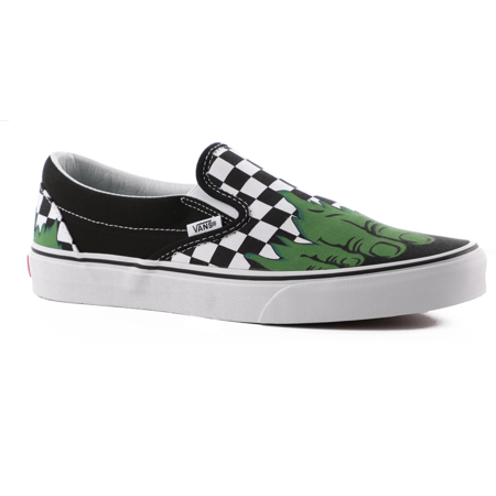 Vans Classic Slip On Marvel Hulk/Checkerboard Men's Skate Shoes Size 9 - Vans Slip On Toddler