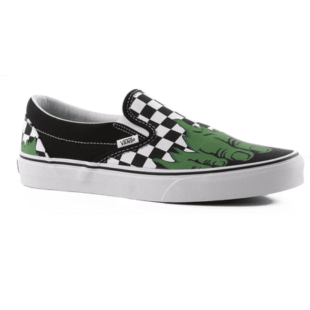 Vans Classic Slip On Marvel Hulk/Checkerboard Men's Skate Shoes Size 9](Vans Sizing Chart)