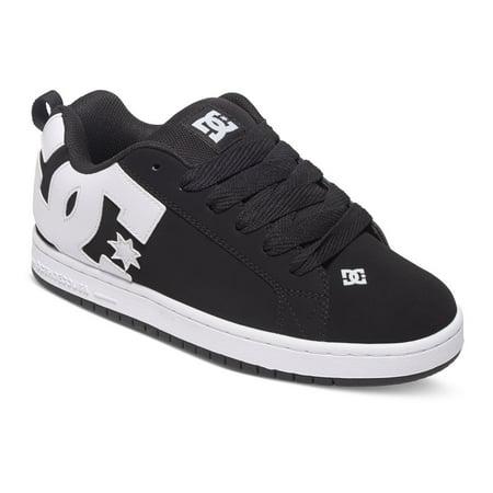 DC Men's Court Graffik Fashion Sneakers Black Leather 10 D ()