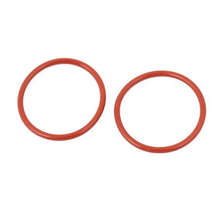 20pcs 1.5mm Thick Heat Oil Resistant Mini O-Ring Rubber Sealing Ring 22mm OD Red - image 2 of 2
