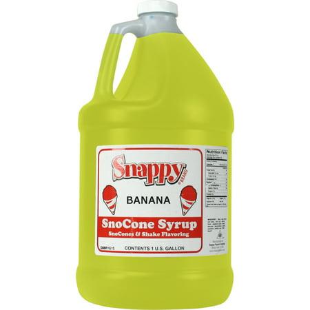 Banana Snappy Snow Cone Syrup (1 Gallon)