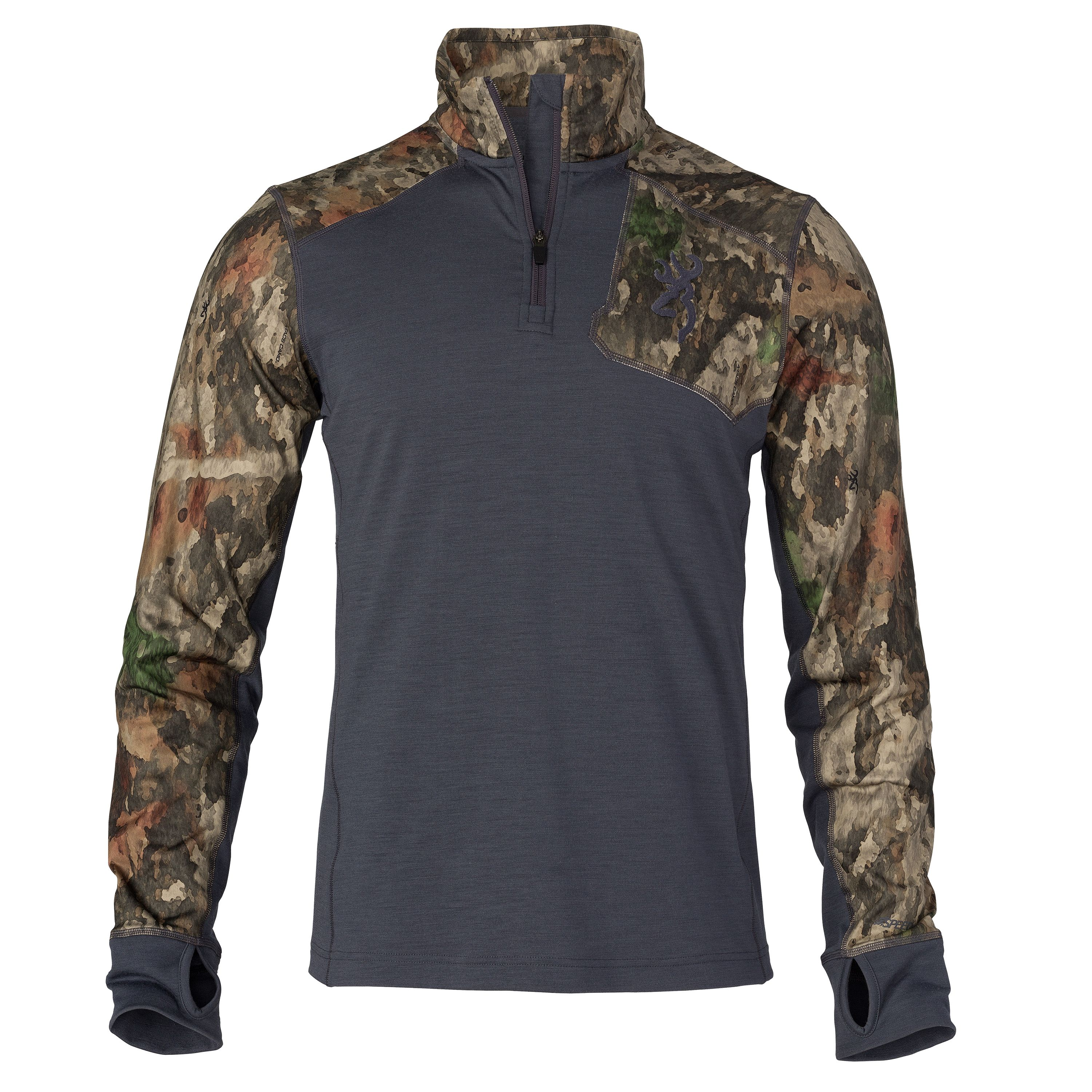 Browning Hell's Canyon Speed MHS-FM Base Layer Shirt Long Sleeve, ATACS Tree Dirt Extreme, 2X-Large by Browning