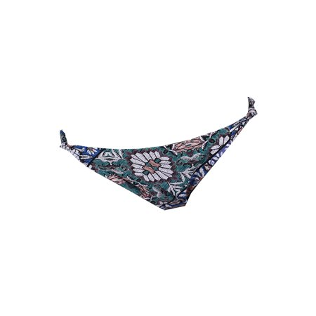 O'Neill Green Multi Topanga Printed Strappy Knotted Hipster Bikini Bottom -