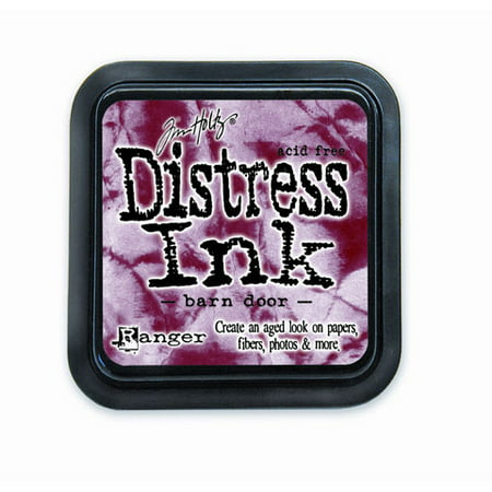 Tim Holtz Distress Ink Pad - Barn Door Red - 2 x 2 inches
