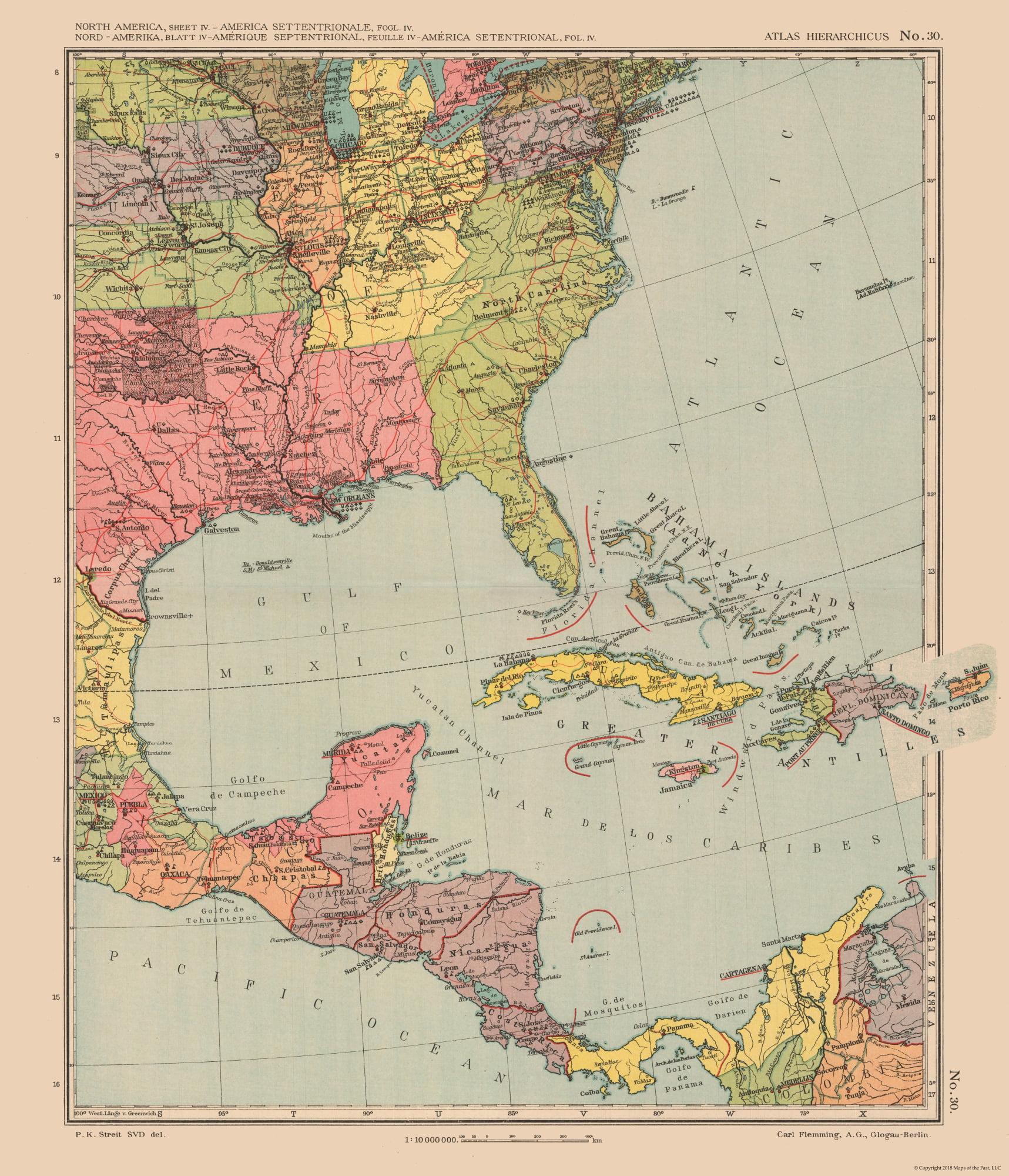 United States Central America - Streit 1913 - 23 x 26.79