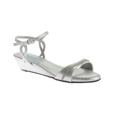Dyeables Mallory - Color - Silver / Size - 12 - Dyeables Womens Flamingo Dyeable Sandal