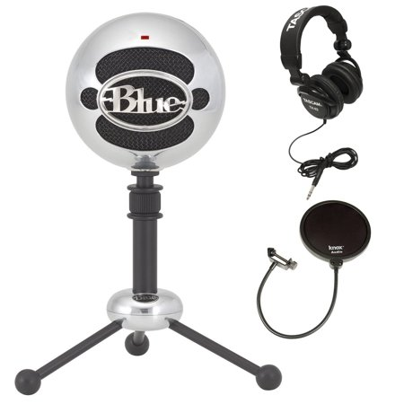 Blue Microphones Snowball Plug & Play USB Microphone Aluminum with Accessory Kit
